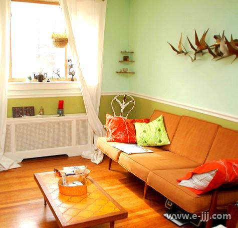 房间换季装修 色彩分隔法实用案例