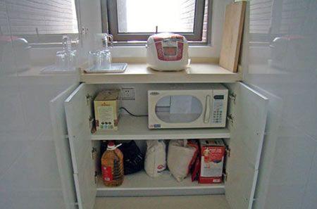 厨房米面柜效果图