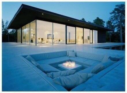 导读:下沉式沙发的设计,适合客厅面积大的房子,下沉式沙发的设计不常