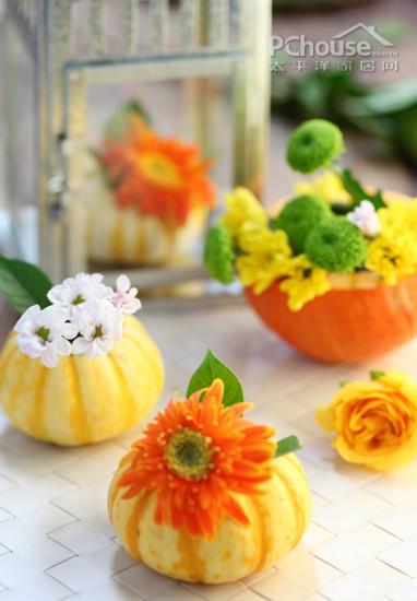 万圣节糖果与南瓜糖果盅,绝配的组合,重要的是制作很简单,只需把南瓜