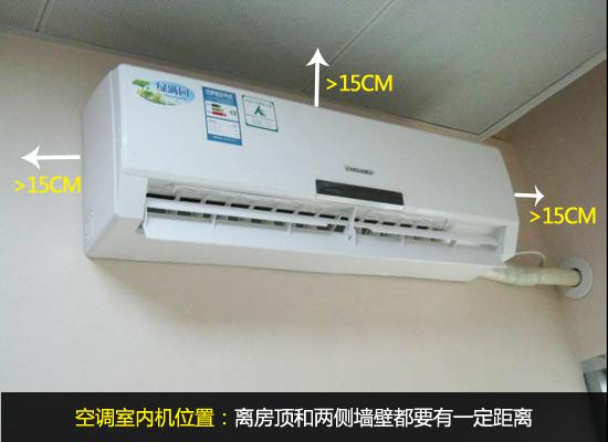 室内空调安装位置