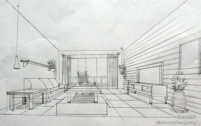 厨房速写手绘线稿图片