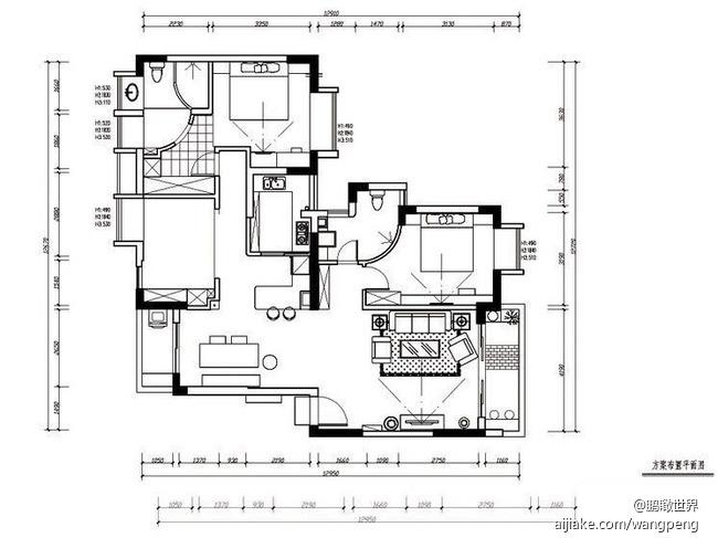 厨房一角结构素描图