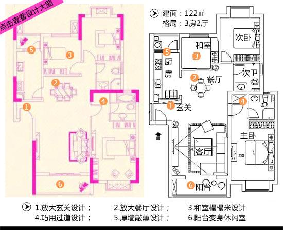 72平方3房设计图