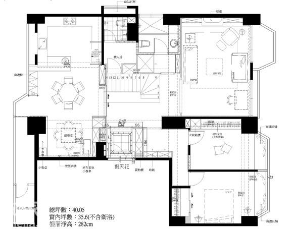 复式公寓平面设计图