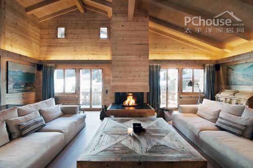 北欧风格最原始质感 瑞士纯木别墅设计