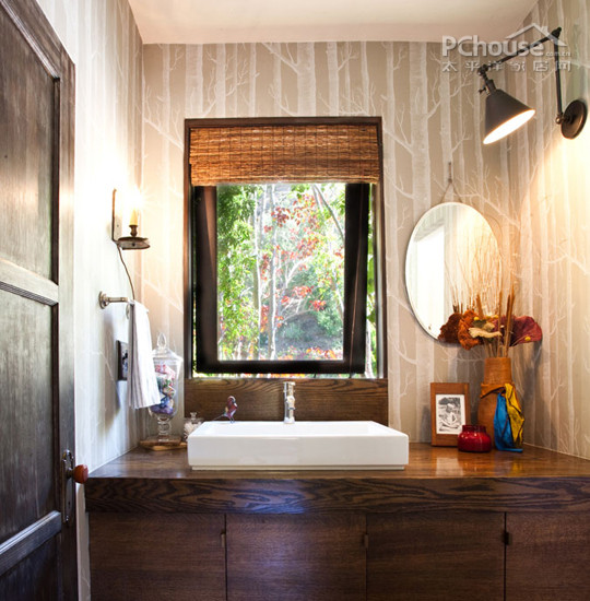 别墅庭院砖砌洗手池