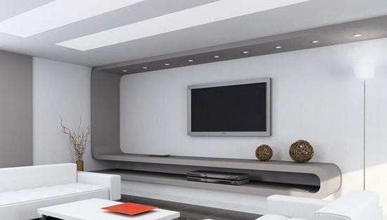 欧式客厅电视背景墙 视觉享受的夺目