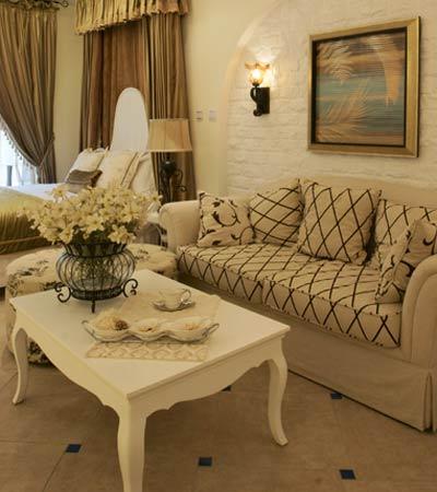 小面积沙发背景装修图-地中海风格 装修图片 小户型