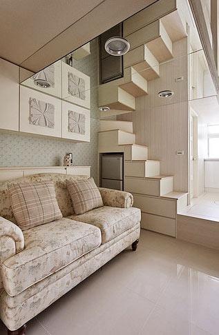 20平单身公寓 欧式loft时尚女性气息