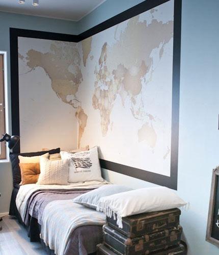 8款靠谱床头背景墙 点亮最炫创意卧室图片