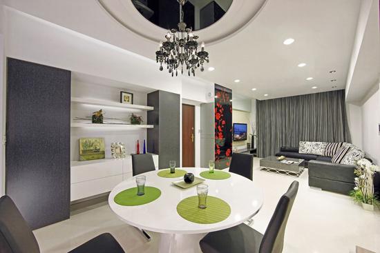 圆形客厅天花设计图