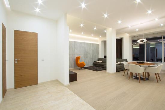 灯光幻变空间 120平现代loft公寓设计