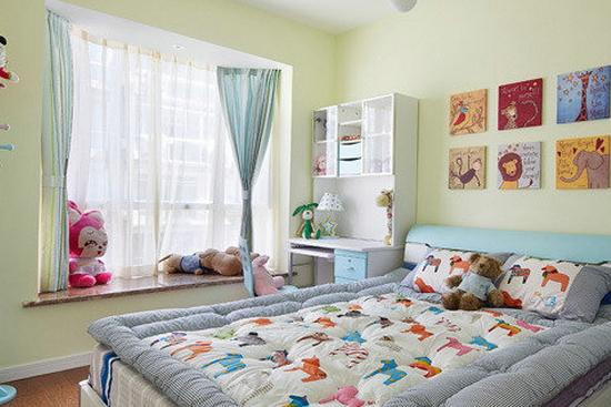 儿童卧室装修效果图欣赏8   这个儿童房装修的时候主人的孩子还没有