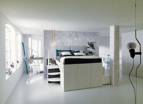 小臥室專屬高床 拓展縱向空間利用 - 裝修攻略 - 裝修