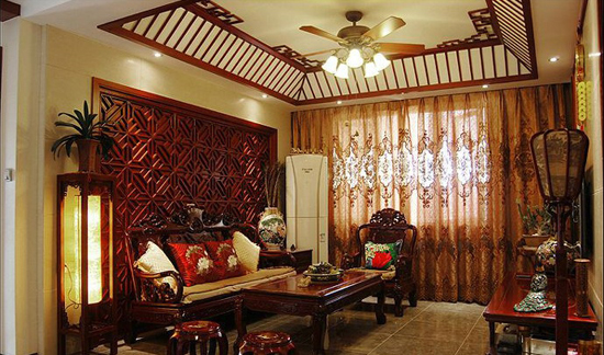 导读:新中式风格的家具多以深色为主,墙面色彩搭配:一是以苏州园林和