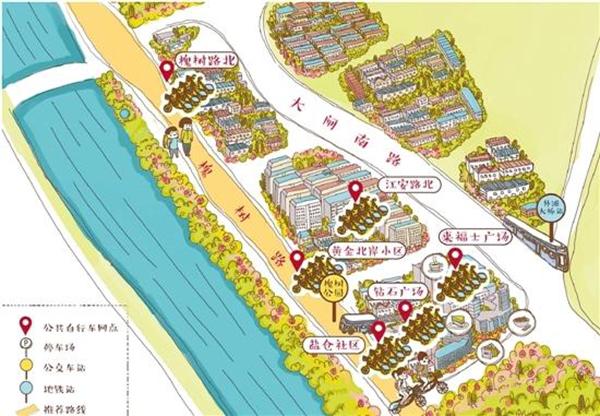 推出7幅手绘地图,主要围绕日湖,月湖,天一阁和鼓楼等极具宁波味的景点