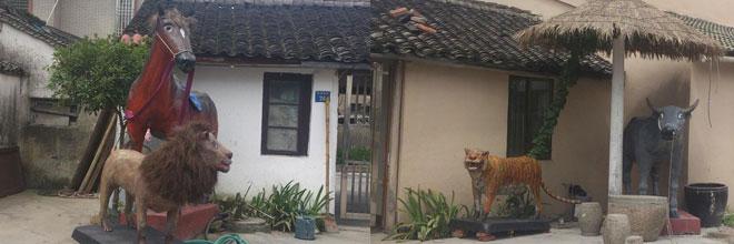"""60岁余姚老人纯手工做出家门口的""""动物园"""""""