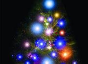 中国国家天文杂志用星系恒星拼成圣诞树