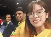 宁波妹子王捷当上奥运会志愿者 里约奥运现场为马龙记分