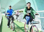 厦门空中自行车道开放 三千多人首尝空中骑行