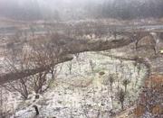 宁波多地出现积雪 未来几天最低气温将降至-3℃